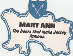UNUSED BEERMAT - JERSEY BREWERY (ST HELIER, JERSEY) - MARY ANN - (Cat 032) - (1990) - Beer Mats
