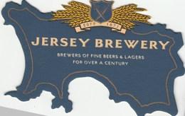 UNUSED BEERMAT - JERSEY BREWERY (ST HELIER, JERSEY) - BREWERS OF FINE BEERS & LAGERS - (Cat 034) - (1995) - Beer Mats