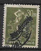 """GERMANIA REICH IMPERO 1923  FRANCOBOLLI DI SERVIZIO  POSTA ORDINARIA SOPRASTAMPATI """"DIENSTMARKE"""" UNIF. 49 USATO VF - Service"""