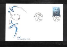 Aland 2000 Gymasticsfest Interesting Cover FDC - Gymnastik