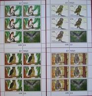 Tajikistan  2019  Owls  4 M/S   Perforated   MNH - Hiboux & Chouettes