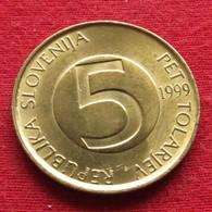 Slovenia 5 Tolarjev 1999 KM# 6  Eslovenia Slovenija Slovenie - Slovenia