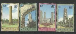 MAURITIUS  1999 OLD SUGAR MILL CHIMNEYS SET  MNH - Mauritius (1968-...)