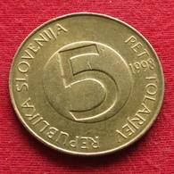 Slovenia 5 Tolarjev 1998 KM# 6  Eslovenia Slovenija Slovenie - Slovenia