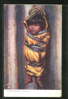 AK A Walapi Papoose, Eingewickeltes Kind, First Nation - Indianer
