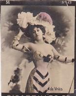DE VRIES, CIGARRILLOS FE. COLORISE. CARD TARJETA COLECCIONABLE TABACO. CIRCA 1915 SIZE 4.5x5.5cm - BLEUP - Berühmtheiten