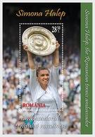 ROMANIA   2019 - TENNIS  SIMONA HALEP -  Winning Of The Wimbledon Trophy.(Great Britain) - Miniature Sheet  MNH** - Tennis