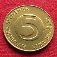 Slovenia 5 Tolarjev 1995 KM# 6  Eslovenia Slovenija Slovenie - Slovenia