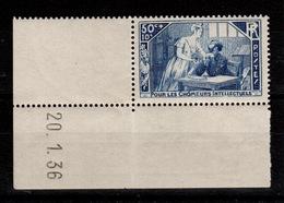 YV 307 N* (infime Trace) Petit Coin Daté 21.11.35 - Frankreich