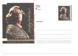 Portugal 2001 - Stationery Amália Rodrigues - Interi Postali
