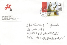 PORTUGAL - Stamp On Official CTT Cover - Falconry - Eagles & Birds Of Prey
