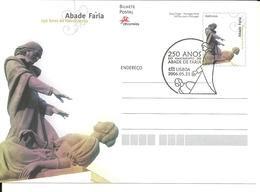 Portugal 2006 - Stationery 250 Years Abade Faria Birth, First Day Cancel - Postwaardestukken