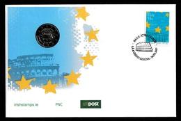 IRELAND 2007 Treaty Of Rome & EUR2.00 Coin: Philatelic/Numismatic Cover CANCELLED - 1949-... Republic Of Ireland