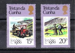 Tristan Da Cunha  - 1980. Contadini Al Lavoro, Trattore. Farmers At Work, Tractor. MNH - Agricoltura