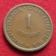 Mozambique 1 Escudo 1953 Mozambico Moçambique Wº - Mozambique