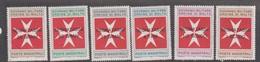 Malte (Ordre De) PD 11-16 1975 Postage Due,mint Never Hinged, - Malte (Ordre De)