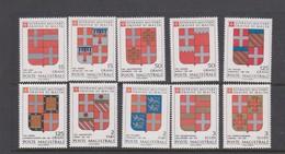 Malte (Ordre De) S 298-307 1989 Arms,mint Never Hinged, - Malte (Ordre De)