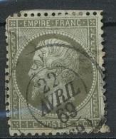 N°19 NUANCE ET OBLITERATION. - 1862 Napoleon III