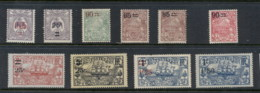 New Caledonia 1922-27 Surcharges Asst MLH - New Caledonia