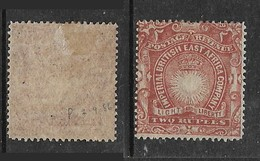 Imperial British East Africa Co., 1890 - 5, FOURNIER FORGERY, 2 Rupee, MH * - Kenya, Uganda & Tanganyika