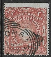 Imperial British East Africa Co., 1890 - 5, FOURNIER FORGERY, 2 Rupee, Used, Spurious Mombasa Sq.c.d.s. - Kenya, Uganda & Tanganyika