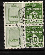 DENMARK 1921 10c Numeral With Adverts SG 780 U #BDH324 - Booklets