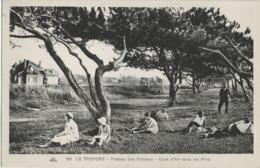 LE TREPORT - PLATEAU DES FALAISES - CURE D'AIR SOUS LES PINS - SUPERBE ANIMATION - VERS 1930 - Le Treport