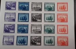 O) 1938 SPAIN, IMPERFORATE, VICTORY OVER THE TURKS IN THE BATTLE OF LEPANTO -SC B108K - ARMY AND MARINE .BATTLESHIP ADMI - Variétés & Curiosités