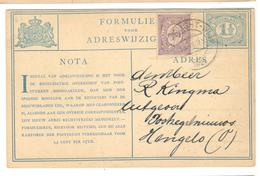 20366 - Changement D'adresse - Periodo 1891 – 1948 (Wilhelmina)