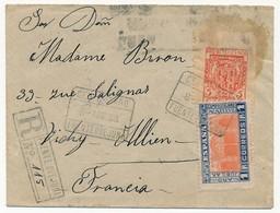 ESPAGNE - Petite Enveloppe Recommandée PUENTE OVE JUVA 1938 - Vignette - 1931-50 Covers