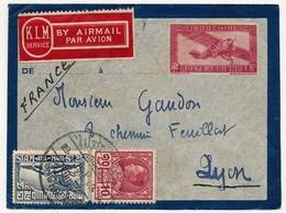SIAM - Entier D'Indochine Muni De Deux Timbres Du Siam, Ayant Voyagé Ainsi Pour Paris, 1935 - Siam