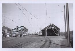 TIELT- Winge  Station  :  TRAM    :** Foto Van Oude Cliché (15 X 10 Cm) Photo Vieux Cliché  1960 - Trenes