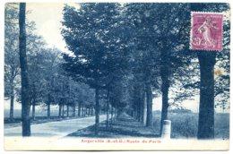 91670 ANGERVILLE - Route De Paris - Joli Sépia Bleuté, 1932 - Angerville