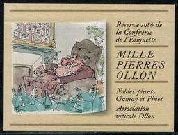 Etiquette De Vin // Gamay Et Pinot, Réserve 1986 De La Confrérie De L'étiquette - Fumetti