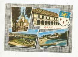 Cp , 70 ,  GRAY ,  Multi Vues ,  Blason ,ed. Combier - Gray