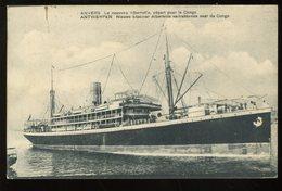Antwerpen Nieuwe Stoomer Albertville Vertrekkende Naar De Congo Anvers Le Nouveau Albertville Départ Pour Le Congo  1910 - Antwerpen