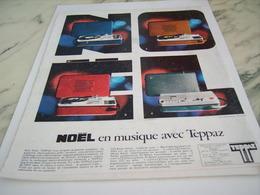 ANCIENNE PUBLICITE NOEL EN MUSIQUE AVEC TEPPAZ 1968 - Autres