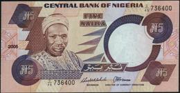NIGERIA - 5 Naira 2005 {Signature 13} AU-UNC P.24 I - Nigeria