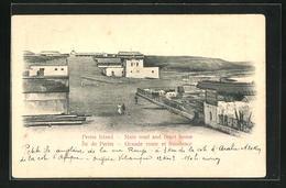 AK Perim Island, Main Road And Court House - Jemen