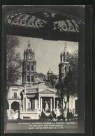 AK San Luis Potosi, Catedral Y Kiosco Desde La Puerta Central De Palacio De Gobierno - Bolivien