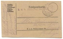 AUSTRIA HUNGARY WW1 - K.u.K. FELDPOST 1013.  FELD SPITAL 1918. Seal DURAZZO ALBANIA, TRAVELED TO OSIJEK CROATIA - Guerre Mondiale (Première)
