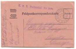 AUSTRIA HUNGARY WW1 - K.u.K. FELDPOST 1504.  FELD SPITAL 1917. Seal DURAZZO ALBANIA, TRAVELED TO OSIJEK CROATIA - Guerre Mondiale (Première)