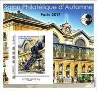 CNEP N°  76 De 2017 - Bloc Autoadhésif - Salon D'automne, Gare Montparnasse, Train, Locomotive - CNEP