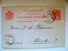 Old Post Card Netherlands 1900 Zeist To Munster - Brieven En Documenten