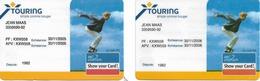Cartes De Membre Touring (association Automobilistes) - Transports