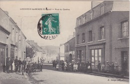 23 - LA CREUSE - LAVAVEIX LES MINES - RUE DU CENTRE - Autres Communes