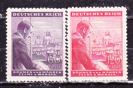 Germania-Protettorato Boemia E Moravia 1943 Hitler  Serie Completa Nuova MLLH - Allemagne