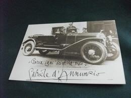 LOTTO 5 CARTOLINE AUTO CAR LANCIA & C GABRIELE D'ANNUNZIO A TRIKAPPA EMBLEMA LAMBDA LA 1° VETTURA VINCENZO LANCIA 1904 - Passenger Cars