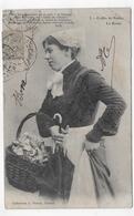 (RECTO / VERSO) NANTES EN 1905 - N° 3 - COIFFE - LA BONNE - PLIS ANGLE HAUT A DROITE ET DIAGONAL - CPA VOYAGEE - Nantes