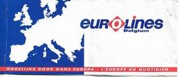 Ticket De Bus Eurolines - Bruxelles Budapest - Bruxelles - Autres